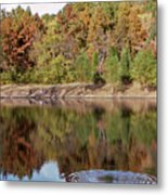 Fall Reflections - 1 Metal Print by Randy Muir