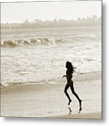 Family At Play On Beach Metal Print by Marilyn Hunt