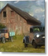 Farm Scene Metal Print by Jack Zulli