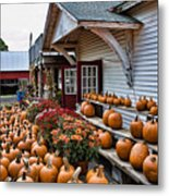 Farmstand Metal Print by Edward Sobuta