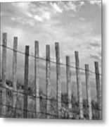 Fence At Jones Beach State Park. New York Metal Print by Gary Koutsoubis