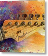 Fender Head Metal Print by Andrew King