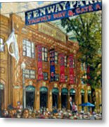 Fenway Summer Metal Print by Gregg Hinlicky