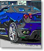 Ferrari F430 Spyder Metal Print by Samuel Sheats