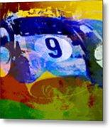 Ferrari Testarossa Watercolor Metal Print by Naxart Studio