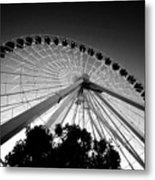 Ferris Wheel Metal Print by Leslie Leda