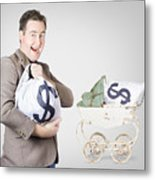 Finance And Money Growth Concept Metal Print by Jorgo Photography - Wall Art Gallery