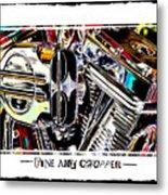 Fine Art Chopper II Metal Print by Mike McGlothlen