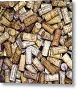 Fine Wine Corks Metal Print by Frank Tschakert