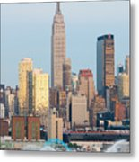 Fire Boat And Manhattan Skyline IIi  Metal Print by Clarence Holmes