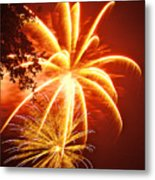 Fire In The Trees Metal Print by Phill Doherty