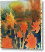 Fire Storm In The Wild Flower Meadow Metal Print by Amy Bernays