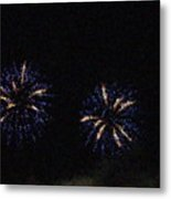 Fire Works Show Stippled Paint 1 Canada Metal Print by Dawn Hay