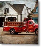 Fireman - Newark Fire Company Metal Print by Mike Savad