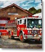 Fireman - Union Fire Company 1  Metal Print by Mike Savad