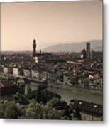 Firenze At Sunset Metal Print by Andrew Soundarajan