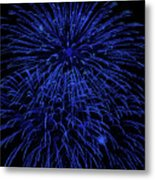Firework Blues Metal Print by DigiArt Diaries by Vicky B Fuller