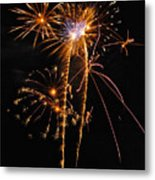 Fireworks 2 Metal Print by Michael Peychich