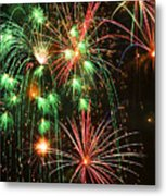 Fireworks 4th Of July Metal Print by Garry Gay