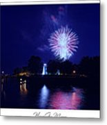 Fireworks Over Concord Point Lighthouse Havre De Grace Maryland Prints For Sale Metal Print by Michael Grubb