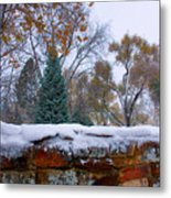 First Colorful Autumn Snow Metal Print by James BO  Insogna