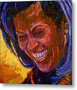 First Lady Michele Obama Metal Print by David Lloyd Glover