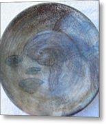 Fish -in -a -pond Plate Metal Print by Julia Van Dine