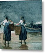 Fisher Girls By The Sea Metal Print by Winslow Homer