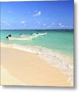 Fishing Boats In Caribbean Sea Metal Print by Elena Elisseeva
