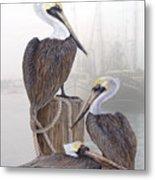 Fishing Buddies Metal Print by Kevin Brant