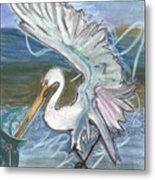 Fishing Egret Metal Print by Stu Hanson