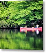 Fishing On Shady Metal Print by Lana Trussell