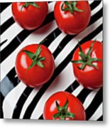 Five Tomatoes  Metal Print by Garry Gay
