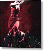 Flamenco Swirl Metal Print by James Shepherd