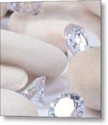 Flashing Diamond Metal Print by Atiketta Sangasaeng