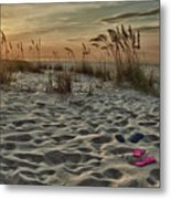 Flipflops On The Beach Metal Print by Michael Thomas
