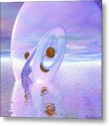 Floating Spheres IIi Metal Print by Wayne Bonney