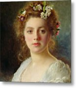 Flora Metal Print by Gustave Jacquet