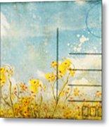 Floral In Blue Sky Postcard Metal Print by Setsiri Silapasuwanchai