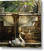Flower - Wisteria - Fountain Metal Print by Mike Savad