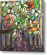 Flower Burst Metal Print by Ethel Vrana