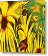 Flower Fun Metal Print by Linda Sannuti