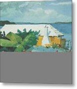 Flower Garden And Bungalow Bermuda Metal Print by Winslow Homer