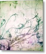 Flowers And Vines Two Metal Print by Tomislav Neely-Turkalj