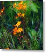 Flowers In The Woods At The Haciendia Metal Print by David Lane