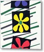 Flowers Three Metal Print by Teddy Campagna