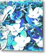Flowers With A Difference Metal Print by TinaDeFortunata