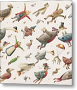 Flying Metal Print by Kestutis Kasparavicius
