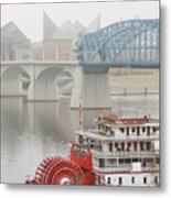 Foggy Chattanooga Metal Print by Tom and Pat Cory