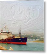 Foggy Morro Bay Metal Print by Methune Hively